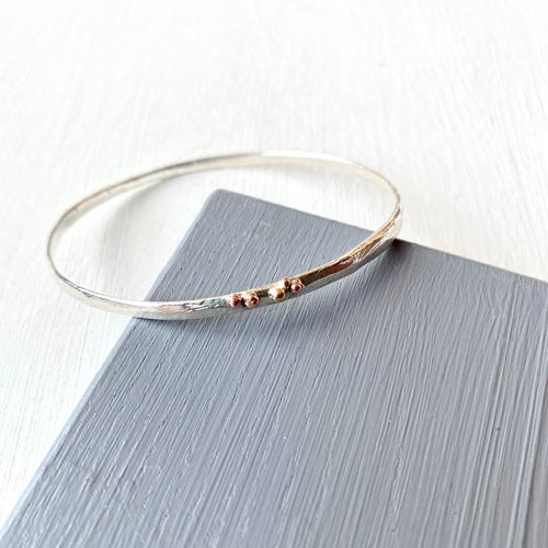 Image of Shanti Bangle- sterling silver/rose gold 2