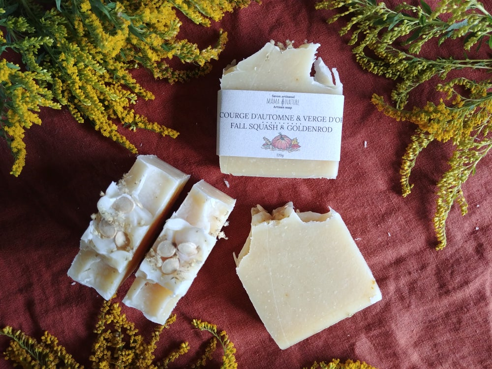 Image of Savon artisanal Courge d'automne - Fall squash artisanal soap