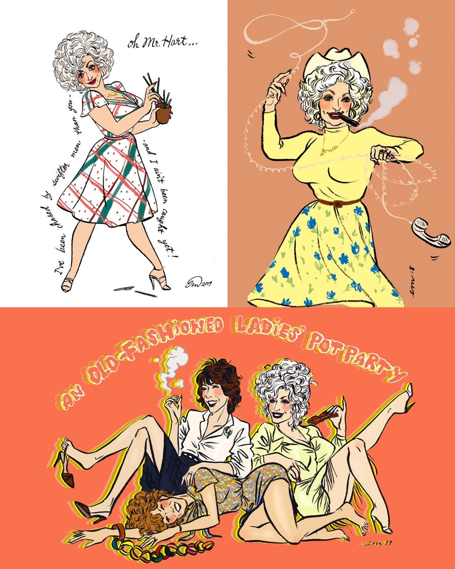 Image of Dolly Parton Pin-up Postcard Pack