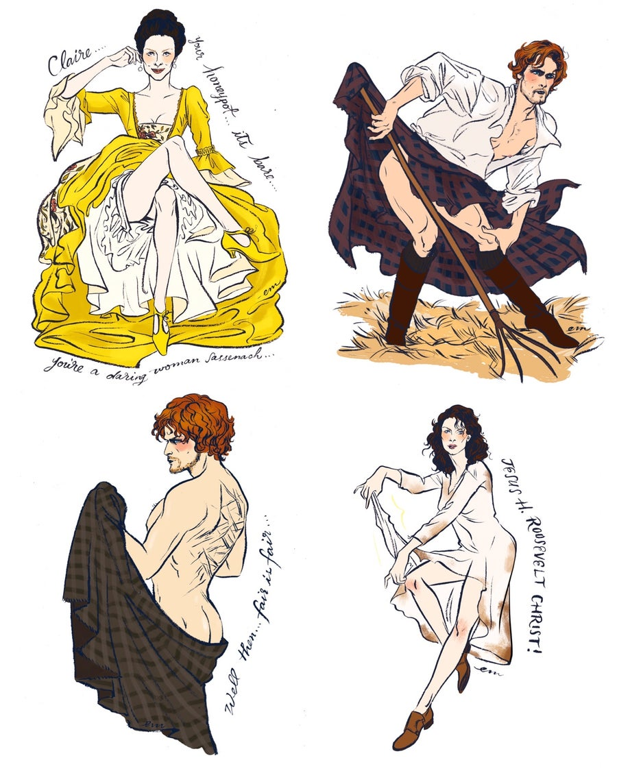 Image of  * Pre-order * Outlander Pin-up Postcard Pack