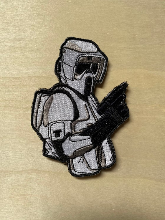 "Image of Biker Scout 4"" tall patch -Standard and Velcro"
