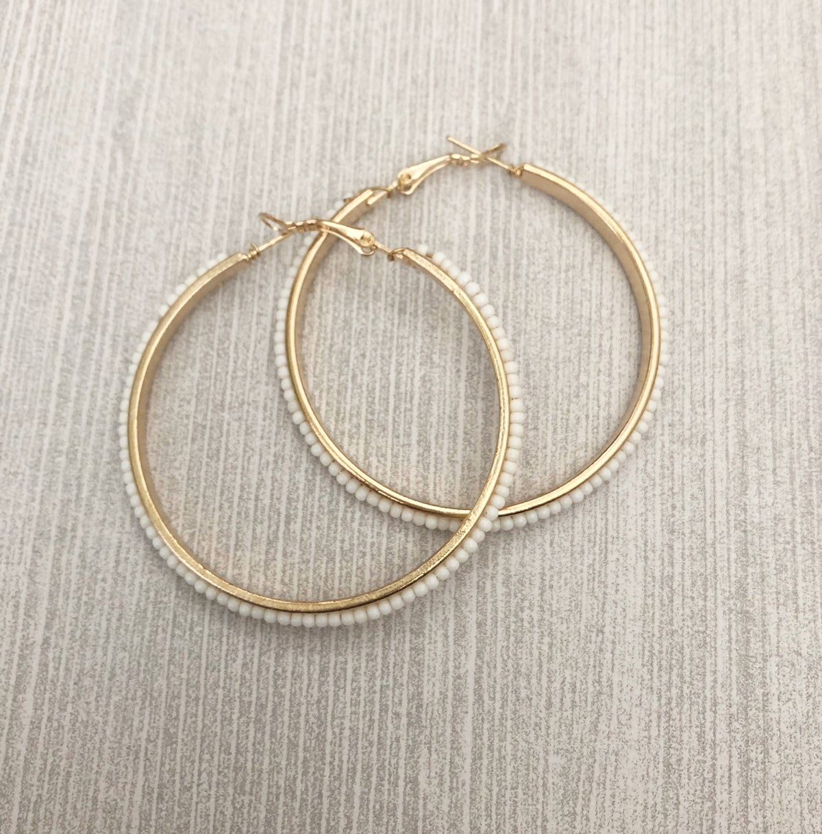 Beaded Hooped Earrings