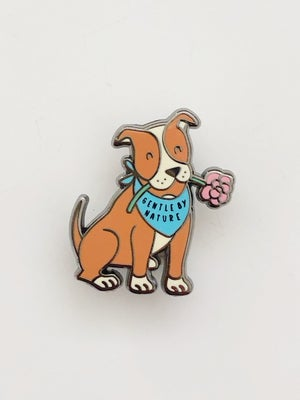 """Image of """"Gentle by Nature"""" Pit Bull Pin"""
