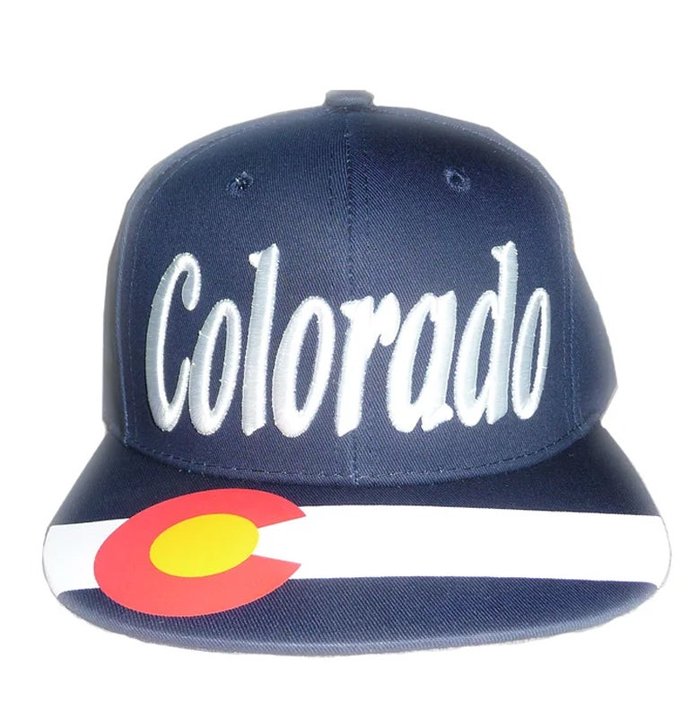 Image of COLORADO EMBROIDERED LETTER AND PRINTED BRIM SNAPBACK HAT