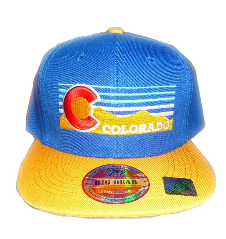 Image of COLORADO GOLDEN MOUNTAINS  SNAPBACK HAT