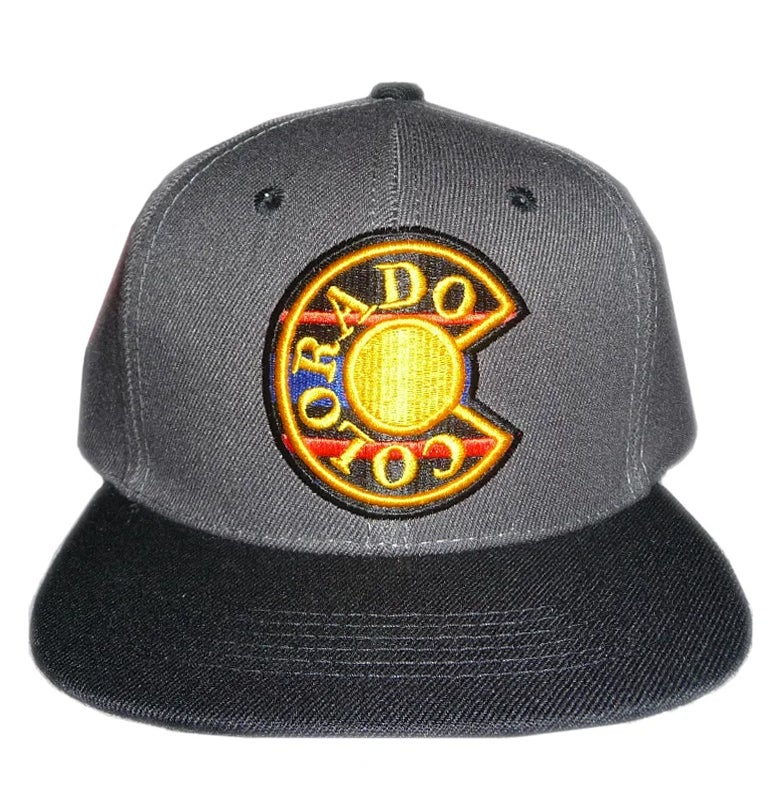 Image of COLORADO GREY AND GOLD WITH BLACK BRIM SNAPBACK HAT