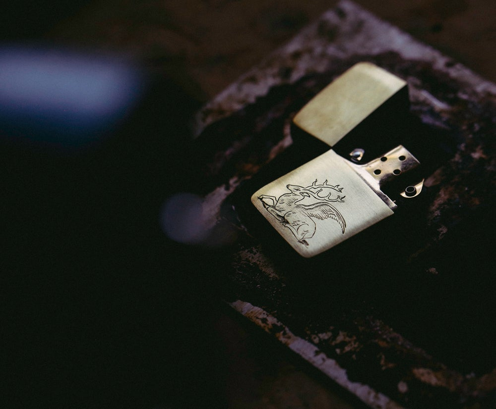 Image of Winged Stag Zippo