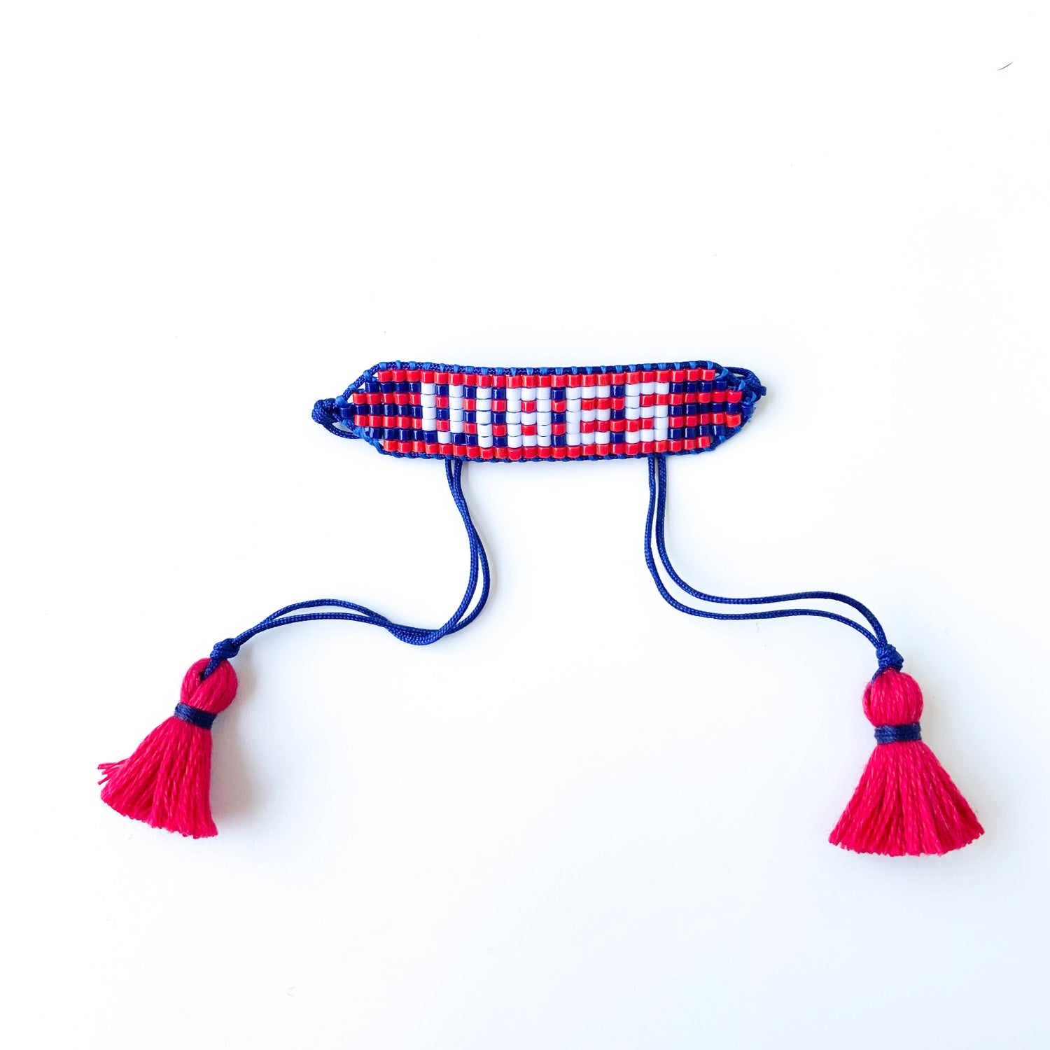 Image of VIBES ( Navy + Red Striped)