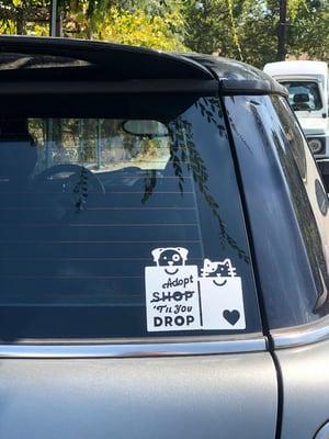 """Image of """"Adopt 'Til You Drop"""" Decals"""