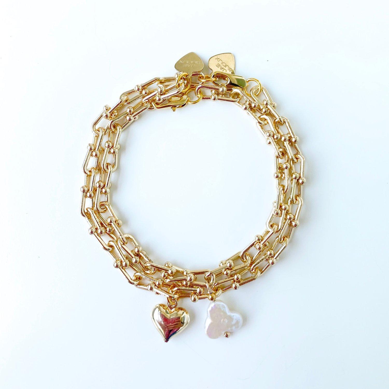Image of U link chain Bracelets (W/Charms)