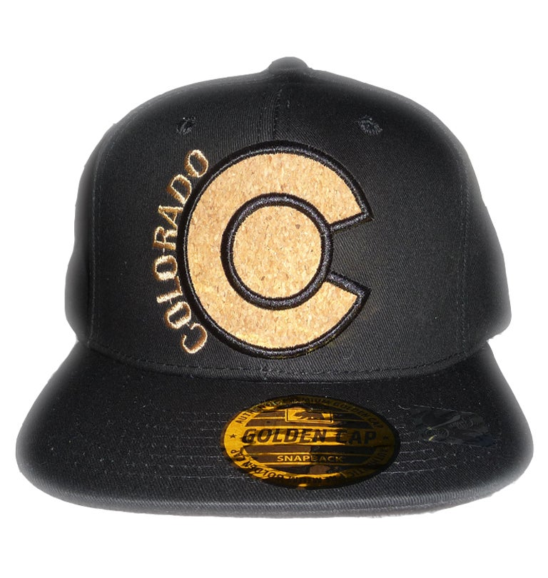 Image of COLORADO BLACK CORK LOGO SNAPBACK HAT