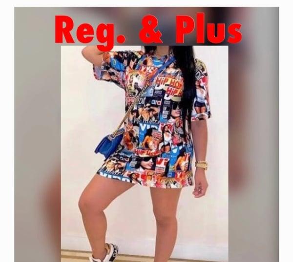 Image of PLUS  SIZE HIP HOP SHIRT DRESS