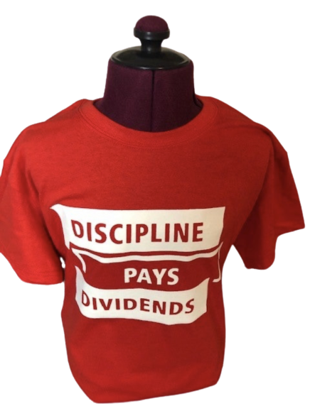 Image of RED Discipline Pays Dividends Tee