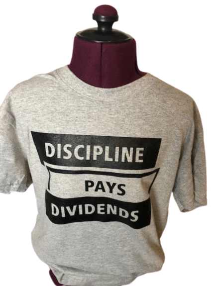 Image of GREY Discipline Pays Dividends Tee