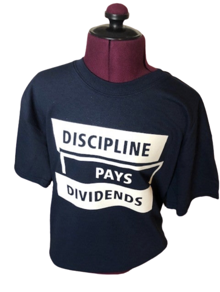 Image of BLUE Discipline Pays Dividends Tee