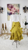 Ruffle Skirt and Blouse Set