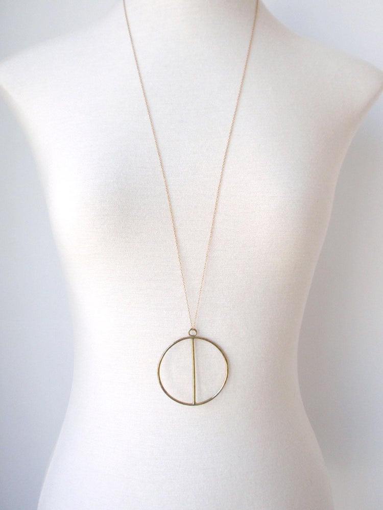 Image of Moon Necklace Golden