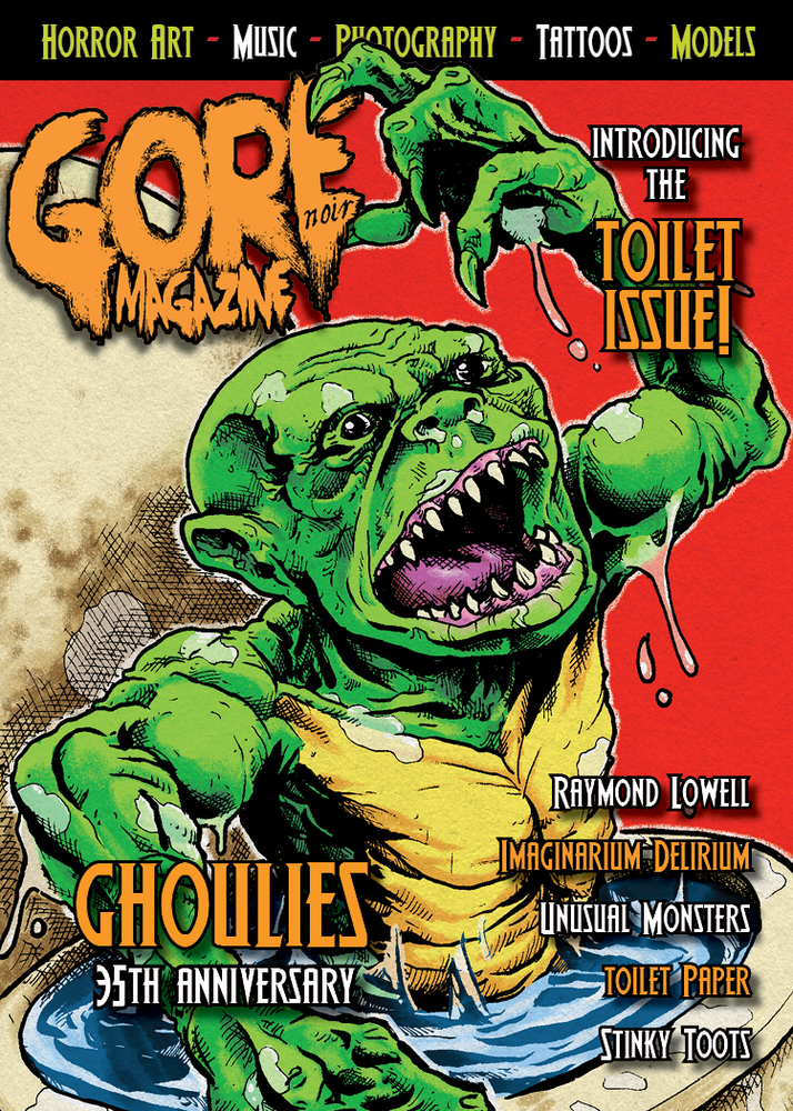 "Image of Toilet Issue 5x7"" Ghoulies & Street Trash themed LIMITED EDITION"
