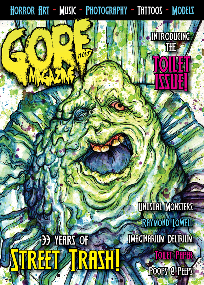 "Image of Toilet Issue 5x7"" Ghoulies & Street Trash themed LIMITED EDITION Presale!"