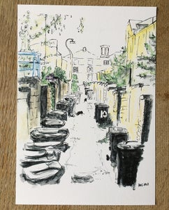 Image of Saltaire Back Lane - A4 print