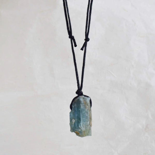 Image of Natural Rough Aquamarine necklace
