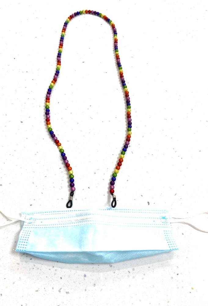 Image of Glow Bead Glasses/Facemask Chain
