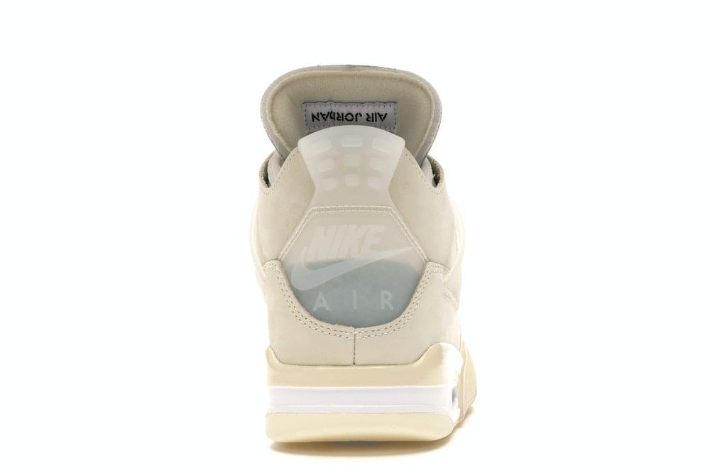 "Image of Nike Retro Air Jordan 4 Off White ""Sail"" Sz 8.5W/7M"