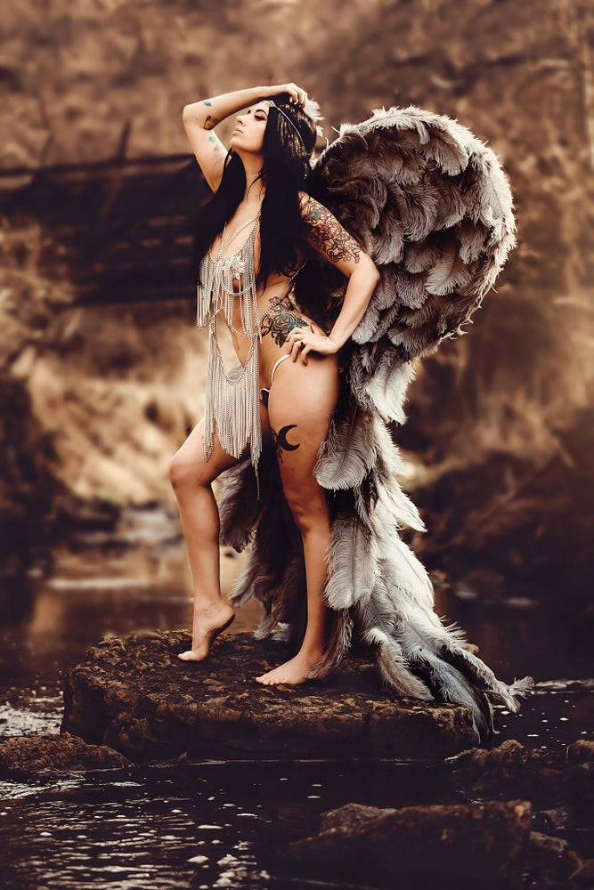 Image of Adult Full Legnth Angel Wings (MADE TO ORDER)