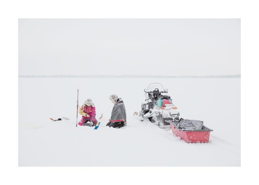 Image of Ice Fishing - Lake Inari