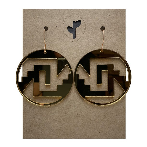 Image of chimalli I / acrylic / gold