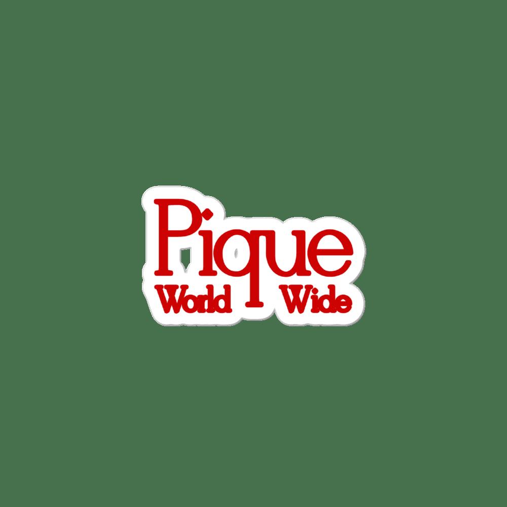 Pique World Wide Menace Logo Sticker