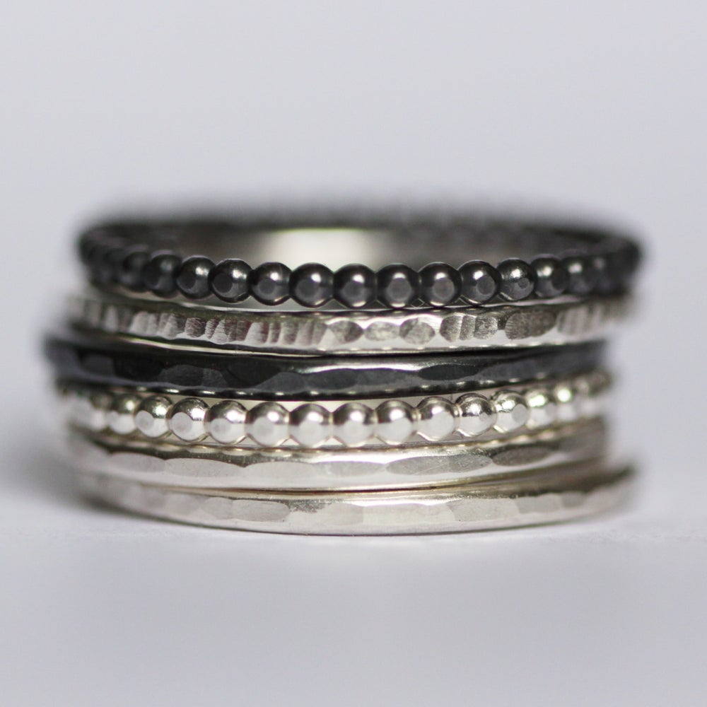 Image of Silver Stacking rings
