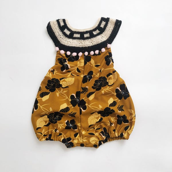 Image of Autumn Blooms Bubble Romper