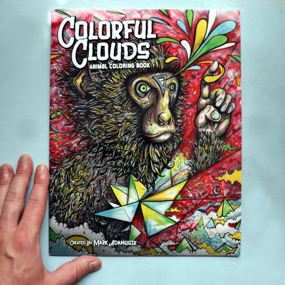 """Image of """"COLORFUL CLOUDS"""" Animal Coloring Book"""