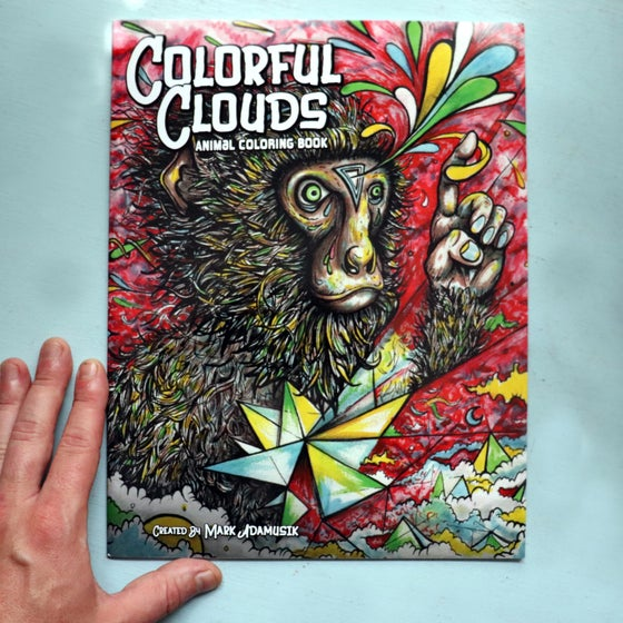 "Image of ""COLORFUL CLOUDS"" Animal Coloring Book"