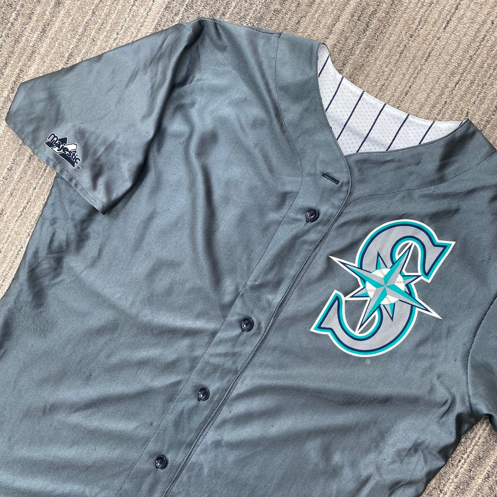 Image of Reversible Seattle Mariners Majestic Jersey