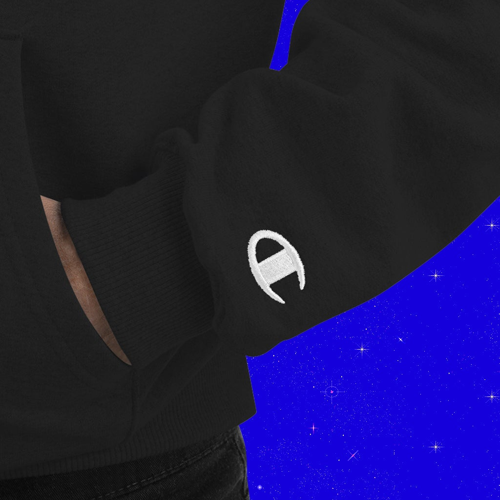 RATED VII EMBROIDERED [BLACK] - CHAMPION HOODIE