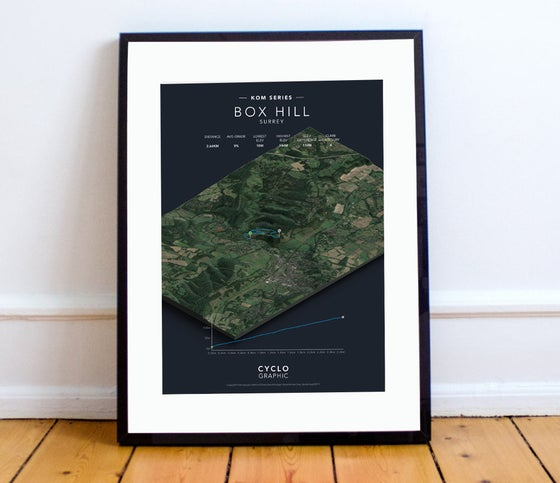 Image of Box Hill KOM series print A4 or A3 - By Graphics Monkey