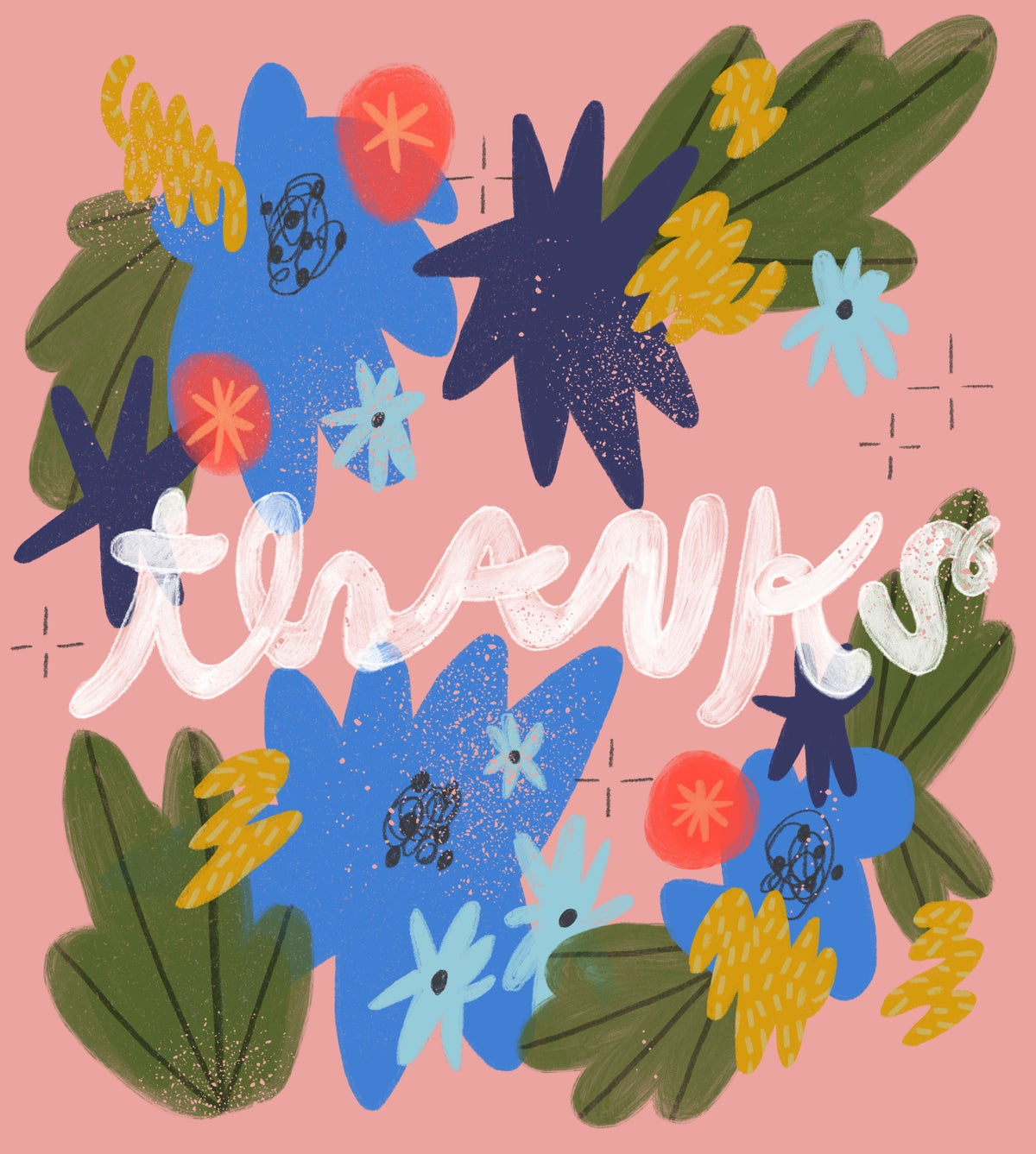 A Flowery Thanks Card