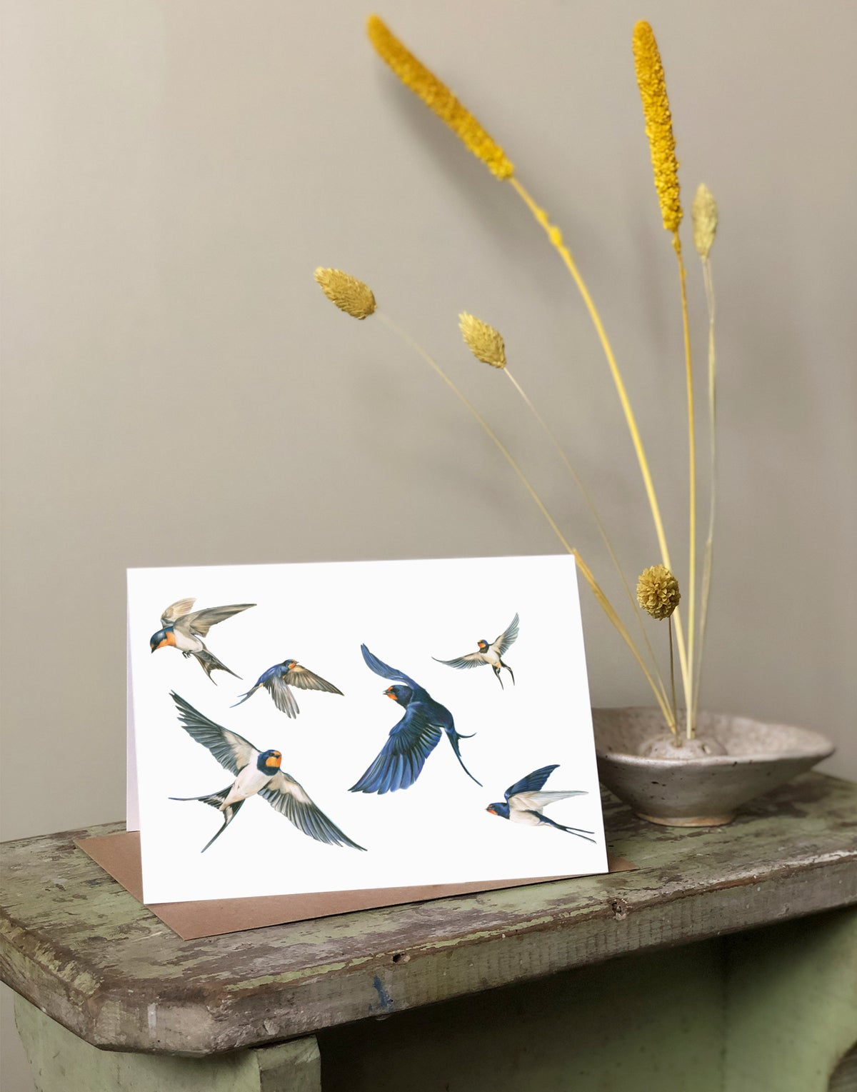 Image of 'Swallows' Greeting Card