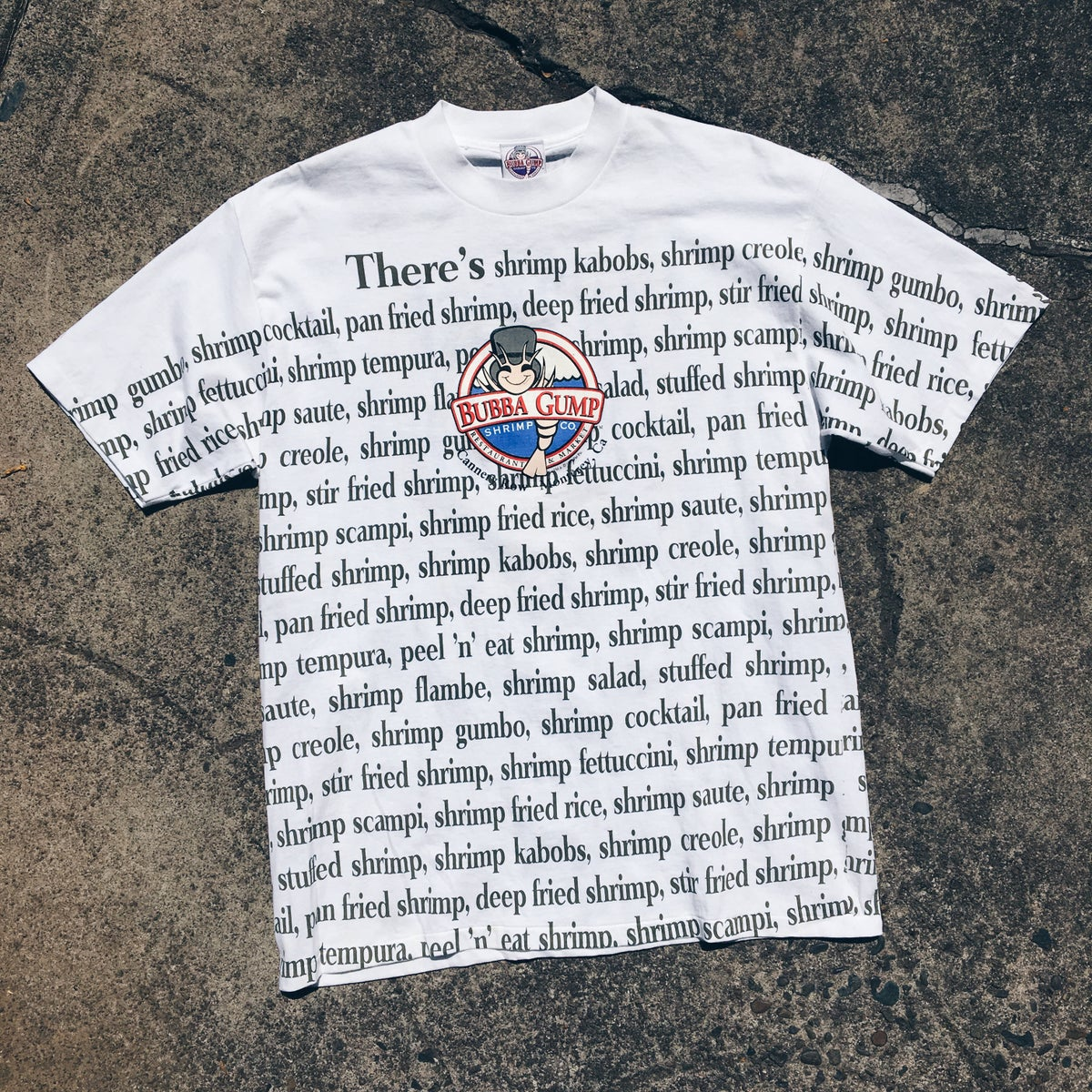 Image of Original 1996 Bubba Gump Forrest Gump Tee.