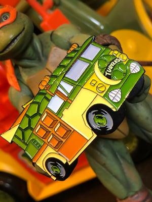 "Image of 2"" Turtle Van Soft Enamel Pin (Playmates)"
