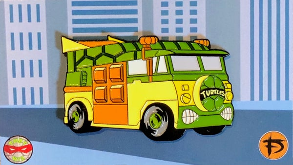"Image of 2"" Turtle Van Soft Enamel Pin (Playmates)"