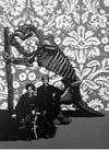 Giant Sloth linocut print