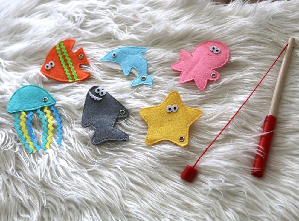 Image of Fun Felt Fishing Game Set