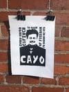 Cayo. Cymru Rhydd. To Dream of Freedom. A4 Linocut print.