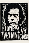 Nick Cave. Hand Made. Original A4 linocut print. Limited and Signed. Art.