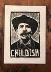Billy Childish. Hand Made. Original A4 linocut print. Limited and Signed. Art.