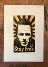 Joe Strummer. The Clash. Hand Made. Original A4 linocut print. Limited/signed.