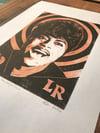Little Richard. Hand Made. Original A4 linocut print. Limited/signed.